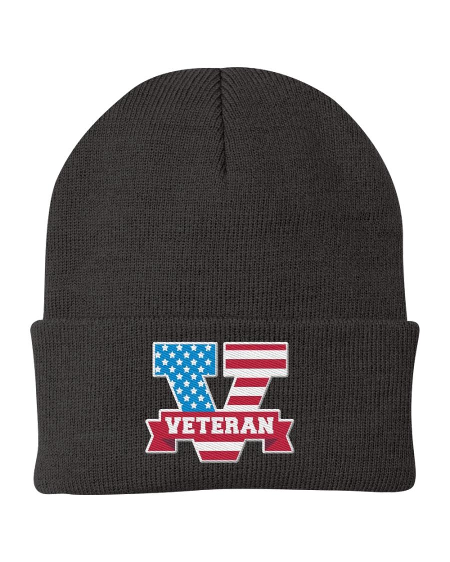 V For Veterans Knit Beanie