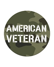 Proud American Veteran Circle Coaster tile