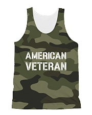 Proud American Veteran All-Over Unisex Tank tile