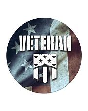 Veteran Honor Medal Circle Coaster thumbnail