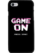 Game On Press Start Phone Case tile