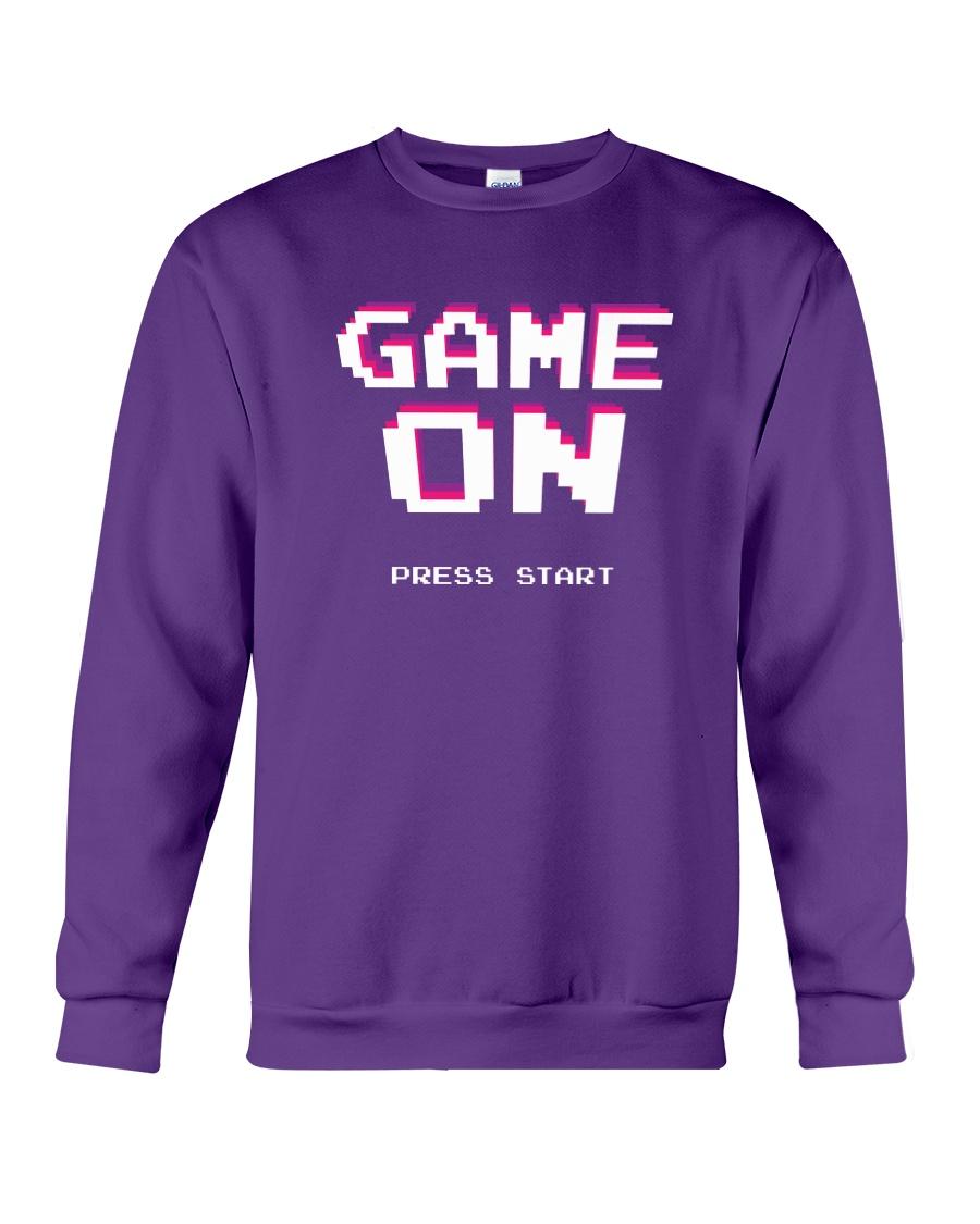 Game On Press Start Crewneck Sweatshirt