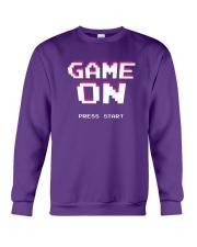 Game On Press Start Crewneck Sweatshirt front