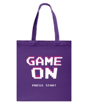 Game On Press Start Tote Bag back