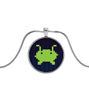 Alien Invasion Metallic Circle Necklace tile