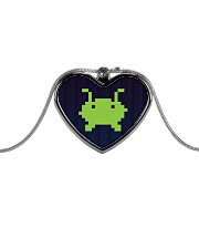 Alien Invasion Metallic Heart Necklace tile