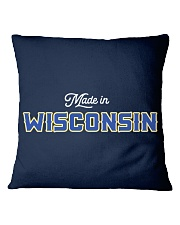 Made In Wisconsin Square Pillowcase thumbnail