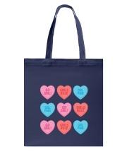 Girl Hearts Tote Bag back