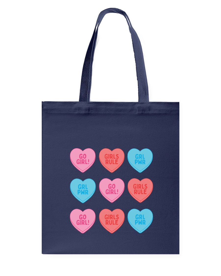 Girl Hearts Tote Bag