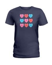 Girl Hearts Ladies T-Shirt thumbnail