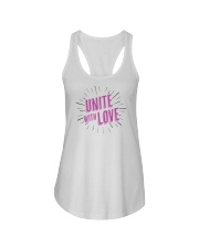 Unite with Love Ladies Flowy Tank front