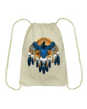 Native Feather Dreamcatcher 08 Drawstring Bag thumbnail