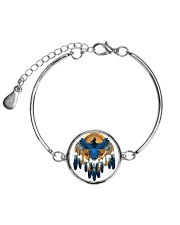 Native Feather Dreamcatcher 08 Metallic Circle Bracelet thumbnail