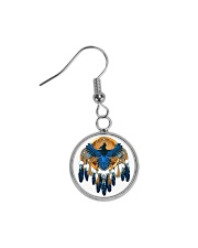Native Feather Dreamcatcher 08 Circle Earrings thumbnail