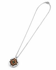 Native American Mandala 08 Metallic Circle Necklace aos-necklace-circle-metallic-lifestyle-06