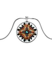 Native American Mandala 08 Metallic Circle Necklace front