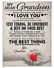 Grandma - Gift For Your Beloved Grandson - BT04  Fleece Blanket tile