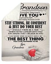"""Grandma - Gift For Your Beloved Grandson - BT04  Sherpa Fleece Blanket - 50"""" x 60"""" thumbnail"""