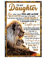 BT06 - Dad- Gift For Your Daughter Blanket- Lion Vertical Poster tile