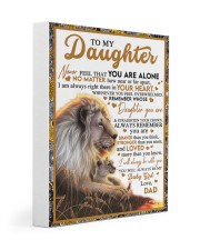 BT06 - Dad- Gift For Your Daughter Blanket- Lion Gallery Wrapped Canvas Prints tile