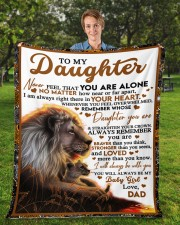 """BT06 - Dad- Gift For Your Daughter Blanket- Lion Fleece Blanket - 50"""" x 60"""" aos-coral-fleece-blanket-50x60-lifestyle-front-01a"""