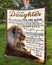 """BT06 - Dad- Gift For Your Daughter Blanket- Lion Fleece Blanket - 50"""" x 60"""" aos-coral-fleece-blanket-50x60-lifestyle-front-02b"""