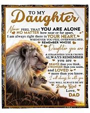 "BT06 - Dad- Gift For Your Daughter Blanket- Lion Fleece Blanket - 50"" x 60"" front"