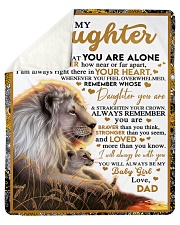 """BT06 - Dad- Gift For Your Daughter Blanket- Lion Sherpa Fleece Blanket - 50"""" x 60"""" thumbnail"""