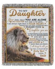 BT06 - Dad- Gift For Your Daughter Blanket- Lion 50x60 - Woven Blanket tile