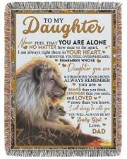 BT06 - Dad- Gift For Your Daughter Blanket- Lion 60x80 - Woven Blanket tile