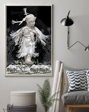 Fantastic Paper Artwork Native American Child 16x24 Poster lifestyle-poster-1