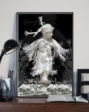 Fantastic Paper Artwork Native American Child 16x24 Poster lifestyle-poster-2