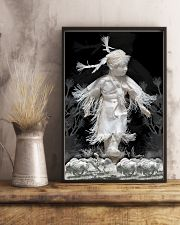 Fantastic Paper Artwork Native American Child 16x24 Poster lifestyle-poster-3