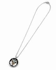 Native Feather Eagle 08 Metallic Circle Necklace aos-necklace-circle-metallic-lifestyle-06