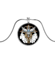 Native Feather Eagle 08 Metallic Circle Necklace front