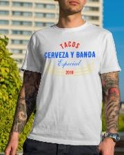 Cerveza y Banda Tee Limited Edition Classic T-Shirt lifestyle-mens-crewneck-front-8
