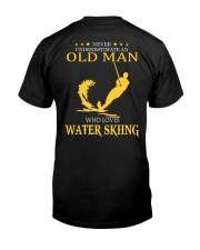OLD MAN WHO LOVES WATER SKIING Classic T-Shirt back