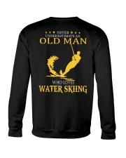 OLD MAN WHO LOVES WATER SKIING Crewneck Sweatshirt thumbnail