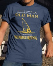 OLD MAN WHO LOVES WINDSURFING Classic T-Shirt apparel-classic-tshirt-lifestyle-28