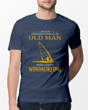 OLD MAN WHO LOVES WINDSURFING Classic T-Shirt lifestyle-mens-crewneck-front-13