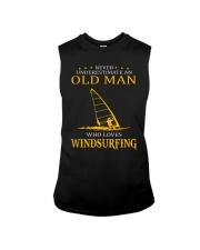 OLD MAN WHO LOVES WINDSURFING Sleeveless Tee thumbnail