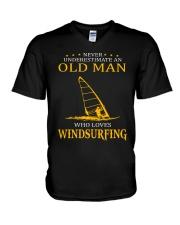 OLD MAN WHO LOVES WINDSURFING V-Neck T-Shirt thumbnail