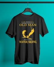 OLD MAN WHO LOVES WATER SKIING Classic T-Shirt lifestyle-mens-crewneck-front-3