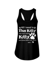 ALL I NEED IS THIS KITTY Ladies Flowy Tank thumbnail