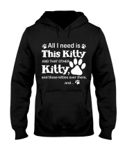 ALL I NEED IS THIS KITTY Hooded Sweatshirt front