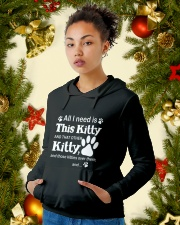 ALL I NEED IS THIS KITTY Hooded Sweatshirt lifestyle-holiday-hoodie-front-4