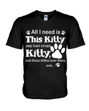 ALL I NEED IS THIS KITTY V-Neck T-Shirt thumbnail