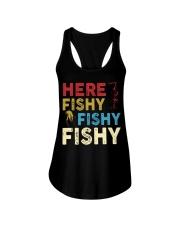 HERE FISHY FISHY FISHY Ladies Flowy Tank thumbnail