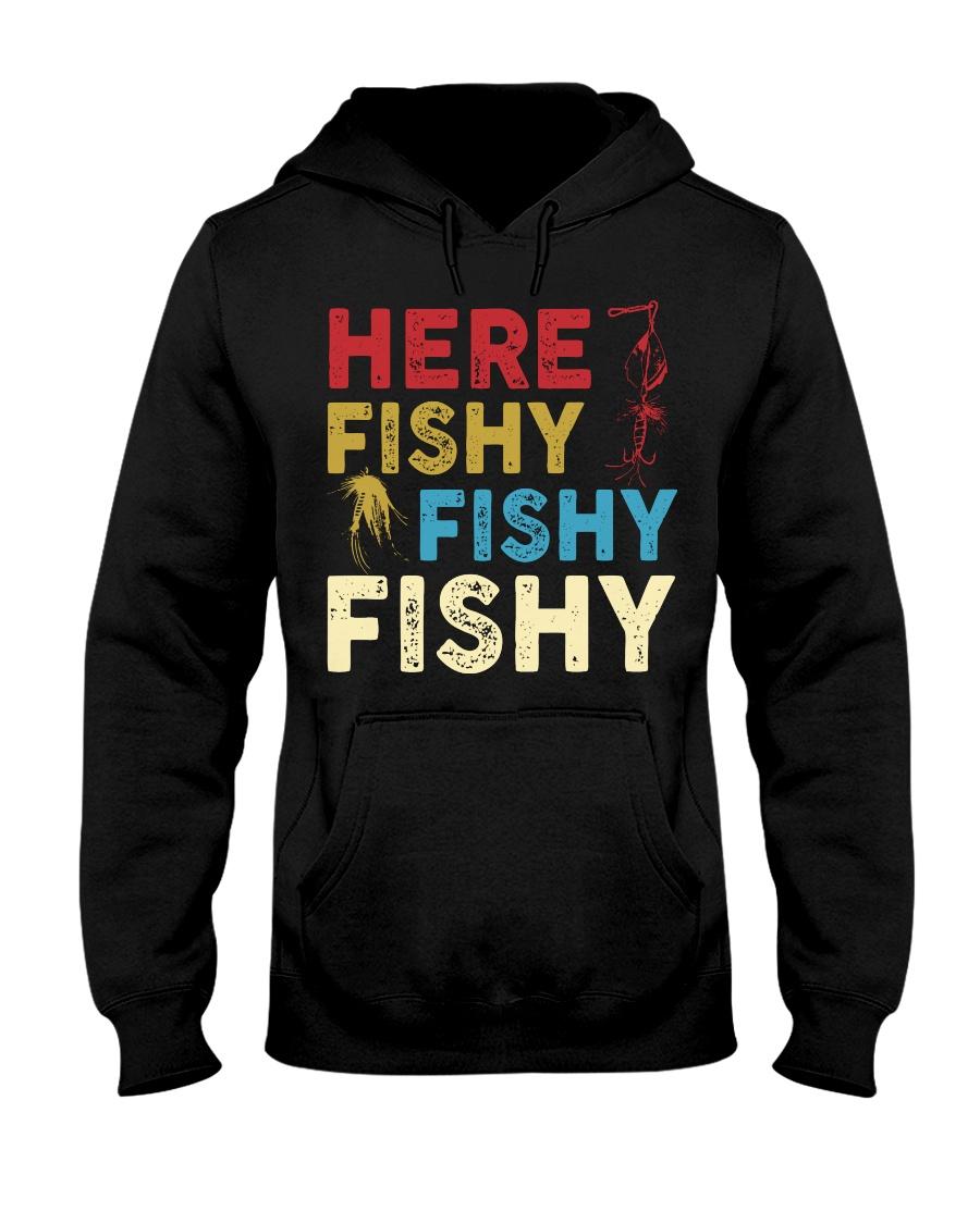 HERE FISHY FISHY FISHY Hooded Sweatshirt