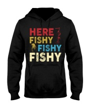 HERE FISHY FISHY FISHY Hooded Sweatshirt front
